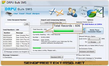 Tool to send bulk text templates